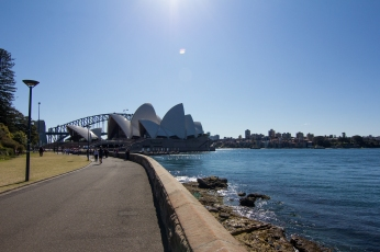First Glimpse of Opera House